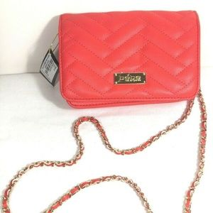 NEW Bebe Red Women's Chain Crossbody Evening Small